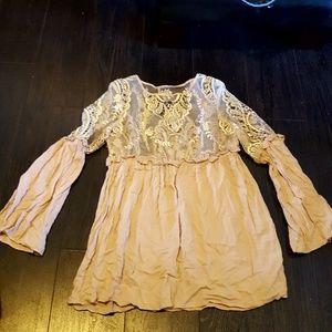 Tobi lace tunic dress